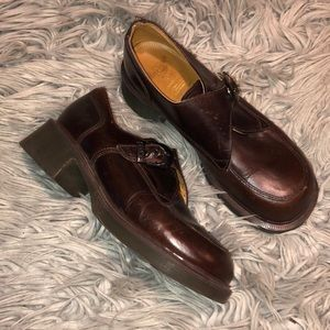 Vtg dr martens England brown chunky Mary Jane 9